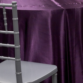 DARK PURPLE - Deco Satin Tablecloth by Eastern Mills - Size Options