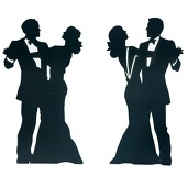 Dignified Dancing Couples Silhouettes