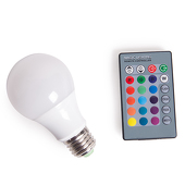 5 Watt Egg Shaped LED RGB Color-Changing Bulb w/ Remote Control