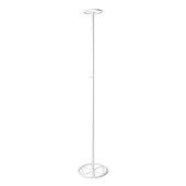 "Chandelier Riser - 34-60"" Tall w/ 7.5"" Top - White Finish"