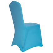Premium Spandex (Lycra) Banquet & Wedding Chair Cover By Eastern Mills in Aqua Blue Color
