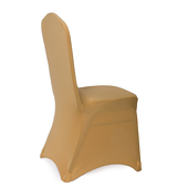 Premium Spandex (Lycra) Banquet & Wedding Chair Cover By Eastern Mills in Gold Color