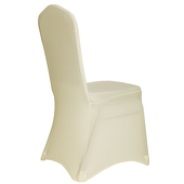 Premium Spandex (Lycra) Banquet & Wedding Chair Cover By Eastern Mills in Ivory Color