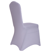 Premium Spandex (Lycra) Banquet & Wedding Chair Cover By Eastern Mills in Silver Color