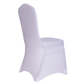 Premium Spandex (Lycra) Banquet & Wedding Chair Cover By Eastern Mills in White Color