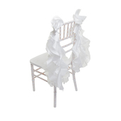 DecoStar™ Chair Tutu -10 Pack - Ivory