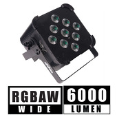 5 in 1 Battery Powered, Wireless DMX Flat LED Light