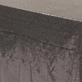 "Rectangle 90"" x 156"" Sequin Tablecloth by Eastern Mills - Premium Quality - Charcoal"