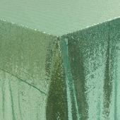 "Square 90"" x 90"" Sequin Tablecloth by Eastern Mills - Premium Quality - Mint"