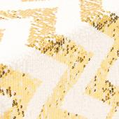 Chevron Sequin Table Runner by Eastern Mills - Gold
