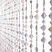 DecoStar™ 6ft Diamond Shaped Iridescent Beaded Curtain