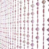 DecoStar™ 6ft Diamond Shaped Iridescent Pink Colored Beaded Curtain