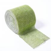 DecoStar™ Lime Green Rhinestone Mesh - 30 Foot Roll