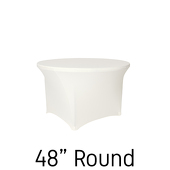 "48"" Round Spandex Table Cover - Ivory"