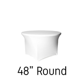 "48"" Round Spandex Table Cover - White"