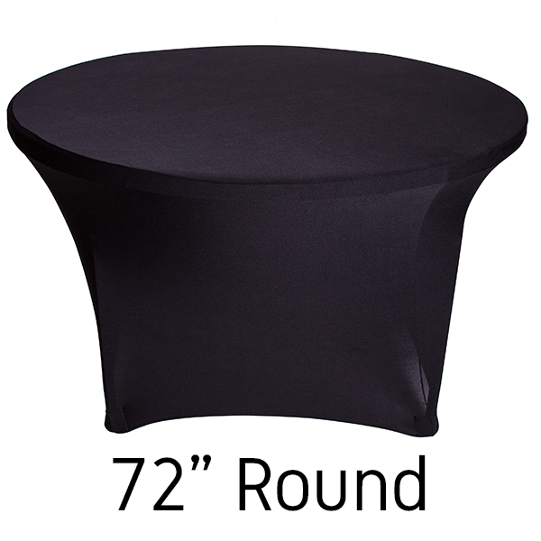 Black Stretch Table Covers Round Stretch Table Covers