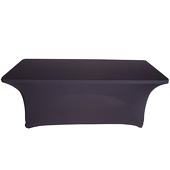 8ft Banquet Spandex Table Cover - Black