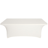 8ft Banquet Spandex Table Cover - Ivory