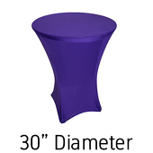 "Spandex Hi-Boy Table Cover - Purple - Cocktail Table - 30"" Diameter"