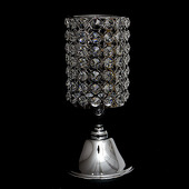 "DecoStar™ Real Crystal Cylinder Candle holder Pedestal-10.2"" tall x 5"" wide"