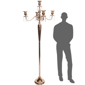 The Antiquity - MASSIVE 6ft TALL 4-Arm Candelabra - Soft Gold - by DecoStar™