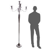 The Antiquity - MASSIVE 6ft TALL 4-Arm Candelabra - Chrome - by DecoStar™
