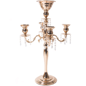 "The Juliet - 30"" 4-Arm Candelabra w/Flower Bowl - Soft Gold - by DecoStar™"
