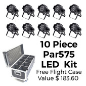 Room LED Lighting Kit - Par575 - 10 Lights W/ Free Flight Case!