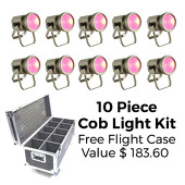 Room LED Lighting Kit - Cob Light - 10 Lights W/ Free Flight Case!