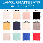 "40FT - *FR* Lamour Matte Satin ""Satinessa"" w/ 4"" Rod Pocket - 118"" Wide - Many Color Options"
