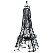 Black Wire Eiffel Tower Centerpiece (set of 2)