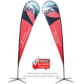 Extra-Large Teardrop Flag - X-Base Double-Sided Graphic Package