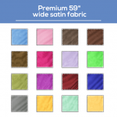 "*FR* Premium 59"" Wide Satin Fabric by Eastern Mills by the Yard - Choice of Colors"