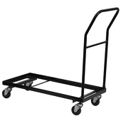 Steel Folding Chair Storage Dolly - Fits FeatherXT Folding Chairs