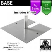 "EZ and Pro Series - 16in x 14in Standard Duty 2"" Base (Up to 8ft)"