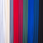 "Poly Premier Plus ""Poly Satin"" Cloth Drape Panel w/ Sewn Rod Pocket by Eastern Mills - 15ft"