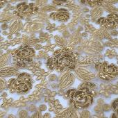 Gold - Sweetheart Lace Overlay - Many Size Options