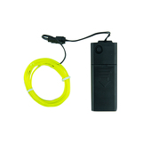 Battery-Operated Electroluminescent (EL) Wire - 6ft (1.8M) Long - LIME GREEN