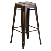 "30"" Distressed Stacking Metal Barstool - Russet"