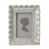 "DecoStar™ Vintage Antique Ornate Silver Rectangle Frame - Medium - 9""x7"""