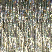Iridescent Holographic Shimmer Curtain 8ft!