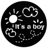 "It's A Boy 1"" Gobo for Eddy Light Gobo Projector"