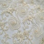 Ivory - Blossoming Lace Overlay - Many Size Options