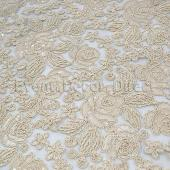 Ivory - Sweetheart Lace Overlay - Many Size Options