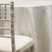 IVORY - Deco Satin Tablecloth by Eastern Mills - Size Options