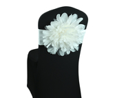 DecoStar™ Ivory Flower Chair Band - Choose your Size!