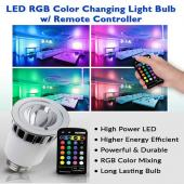 5 Watt LED RGB Color-Change Projection Bulb W/ Remote Control