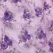 Lilac - Flourishing Mesh Lace Overlay by Eastern Mills - Many Size Options