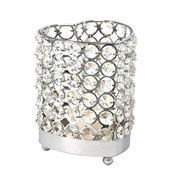 DecoStar™ Real Crystal Heart Candle Holder - MED