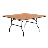 "60"" Square Plywood Table"